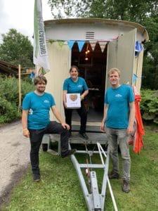 Vrijwilligers buurtcamping