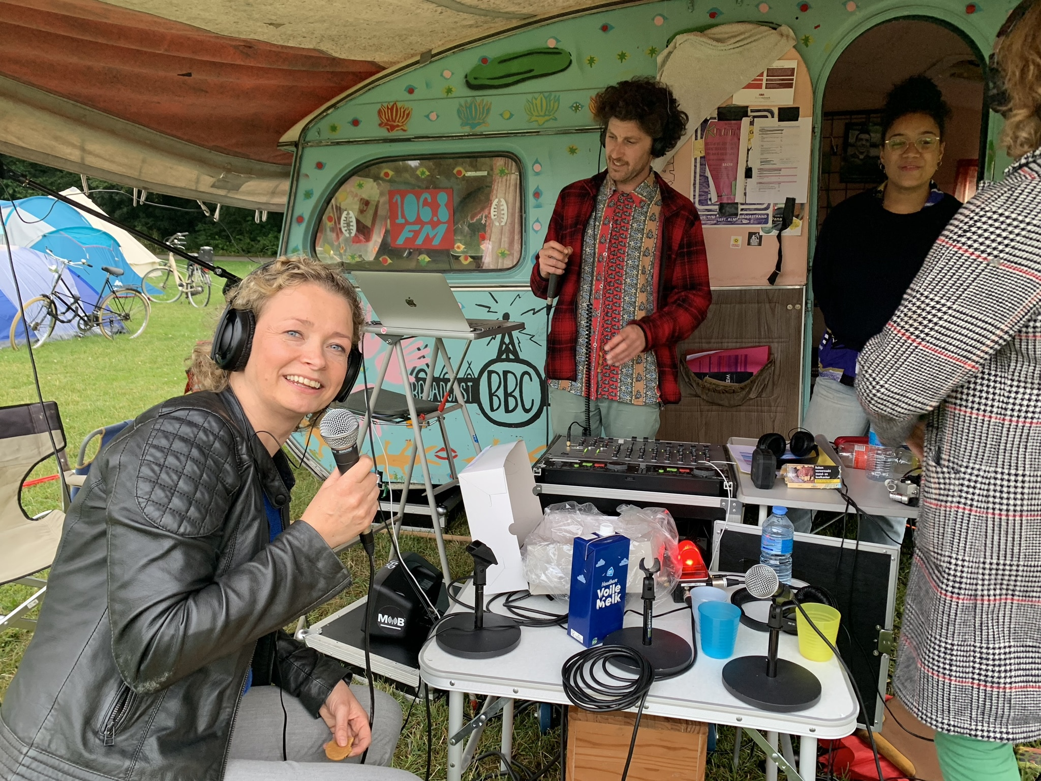 Interview bij radio Komkomkommer